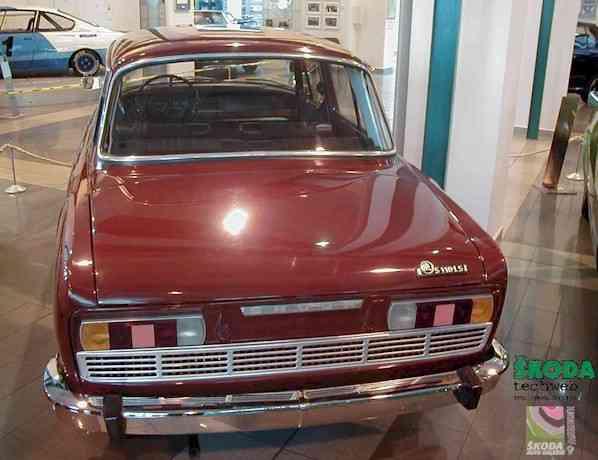 Miliontý vůz s motorem vzadu (Š 110 LS, 29.8.1973)